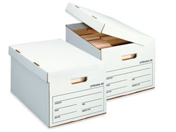 flip top file box